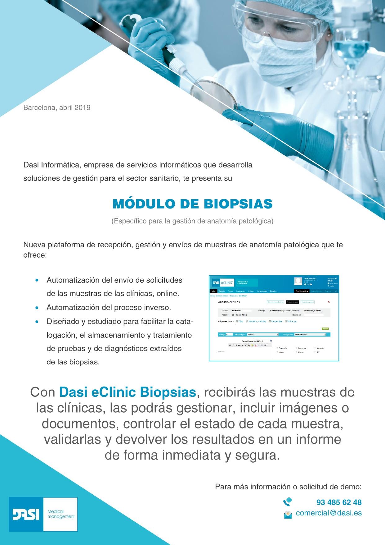 Módulo biopsias. Anatomía patológica